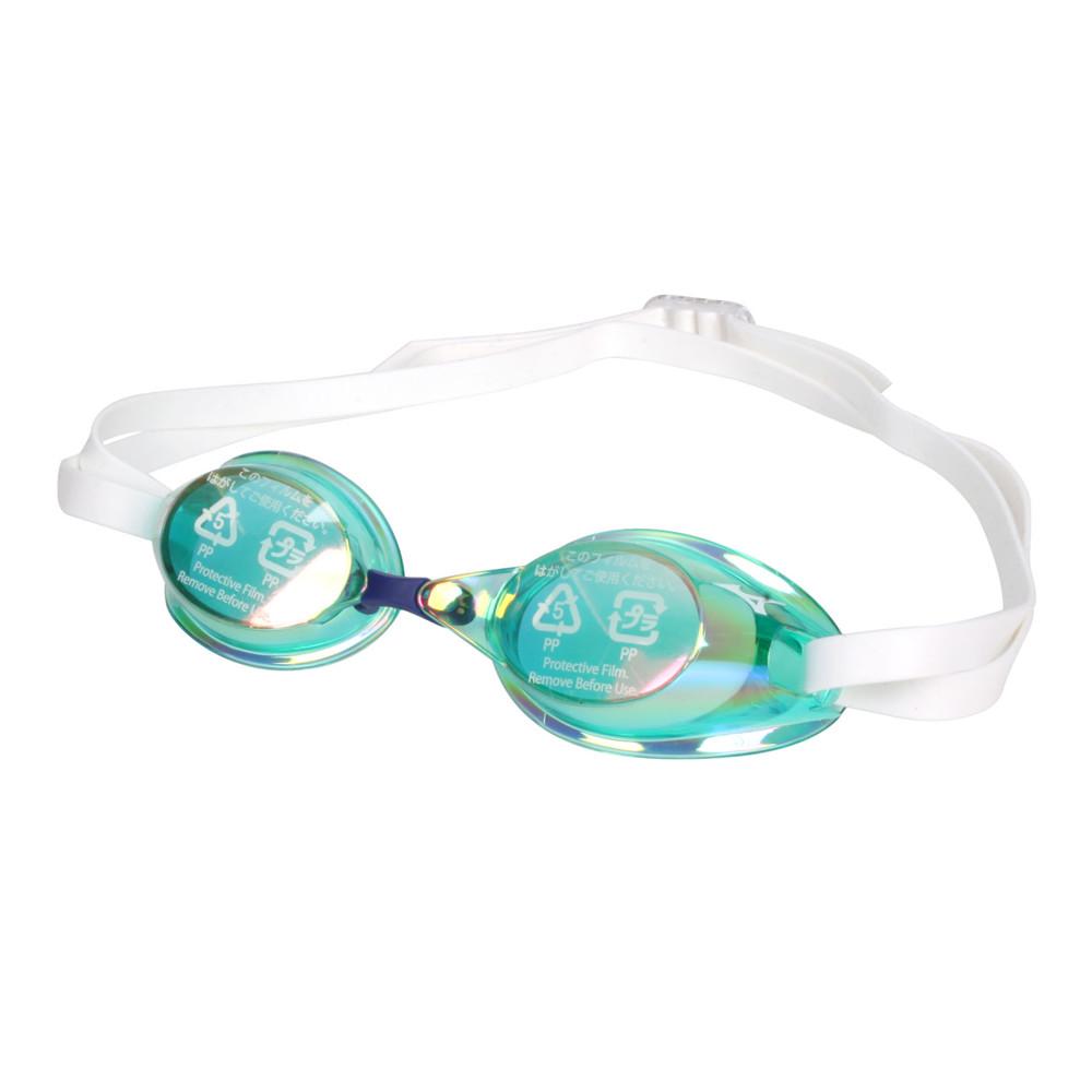 mizuno swim 泳鏡-防霧 抗uv 游泳 日製 蛙鏡 訓練 美津濃 綠白藍