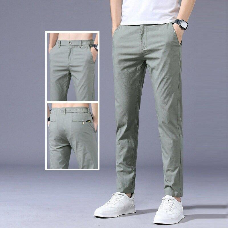 西褲男士休閒褲潮流時尚長褲子商務休閒西褲男夏款薄款型男風長褲