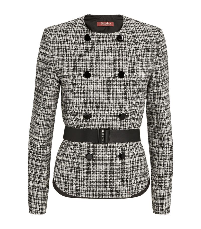Max Mara Basketweave Double-Breasted Jacket