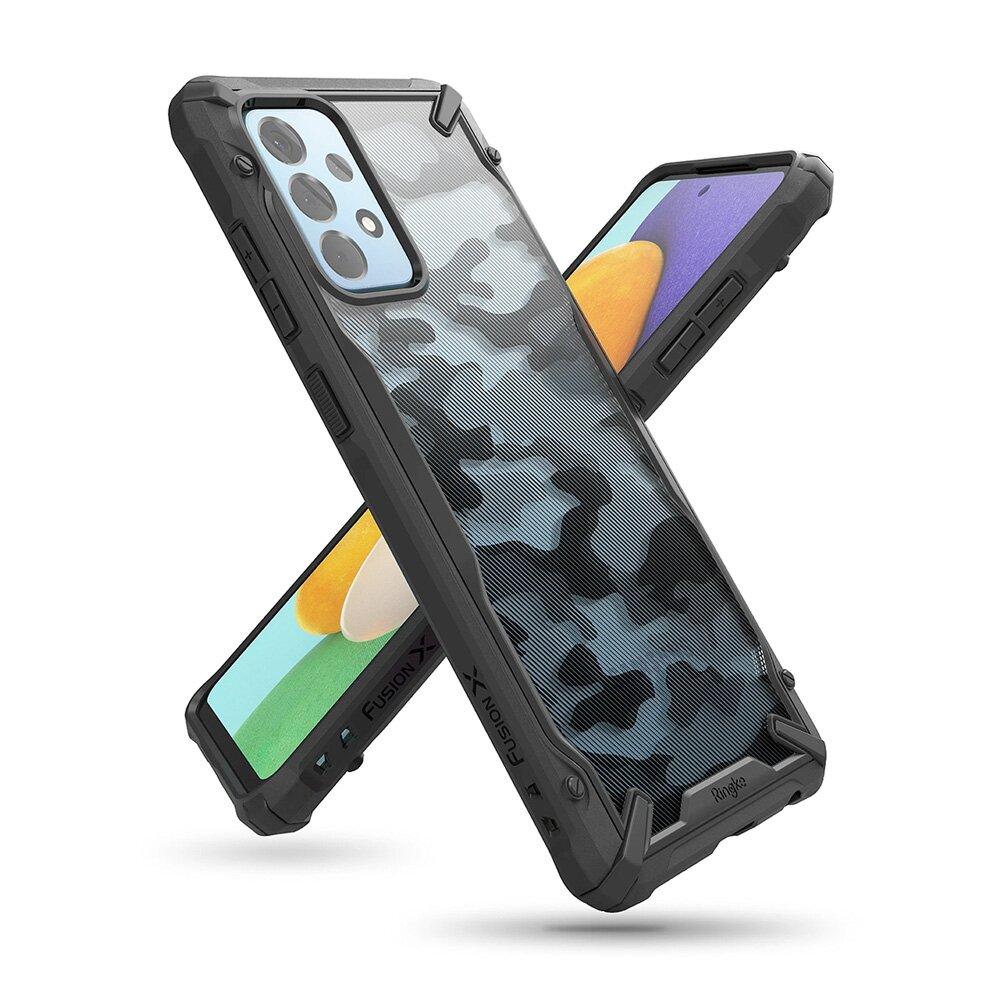 Rearth 三星 Galaxy A52 (Ringke Fusion X) 迷彩抗震保護殼