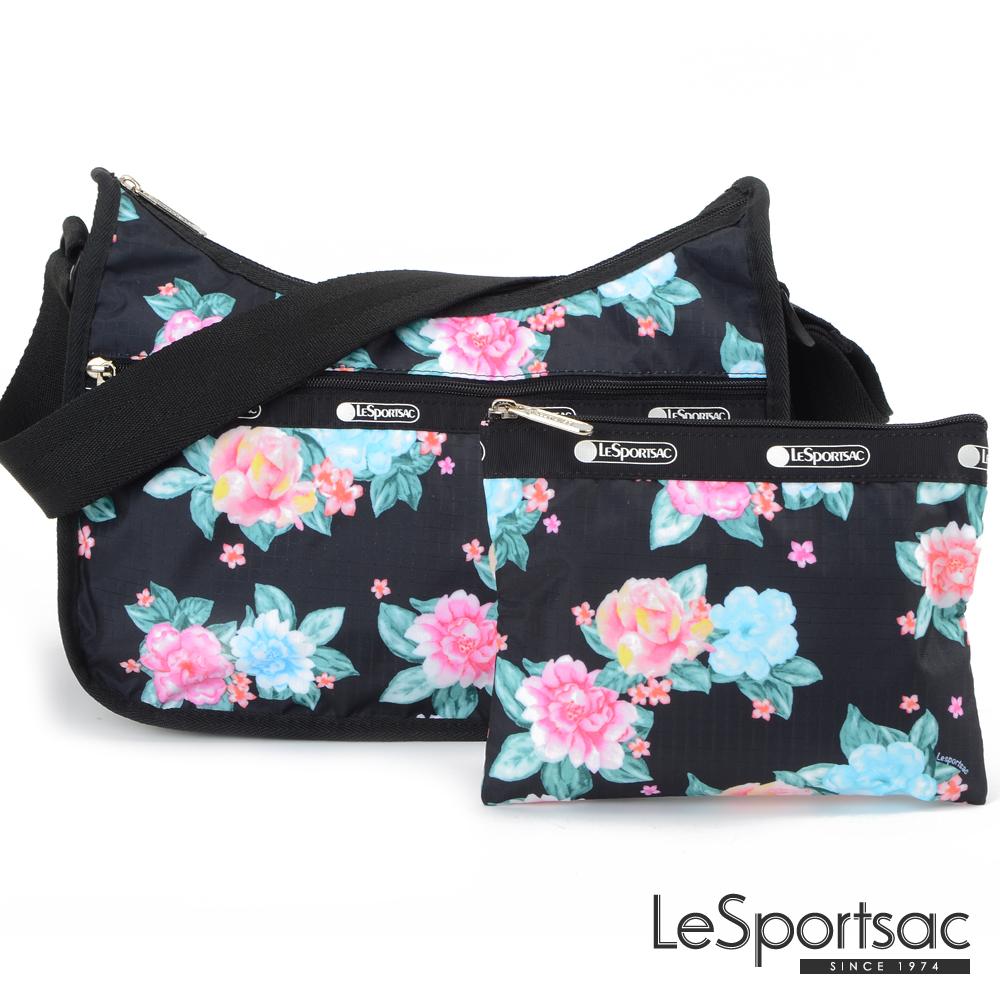 LeSportsac - Standard側背水餃包/流浪包-附化妝包 (夢幻花園)