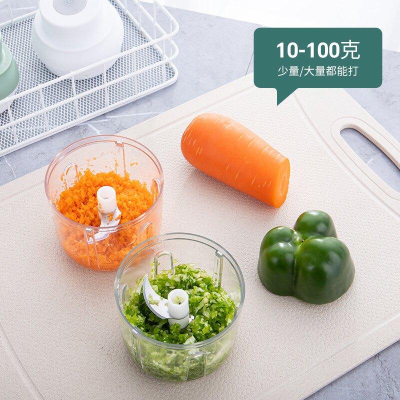廚房電動料理機 家用小型攪拌肉餡機 便捷式寶寶輔食機