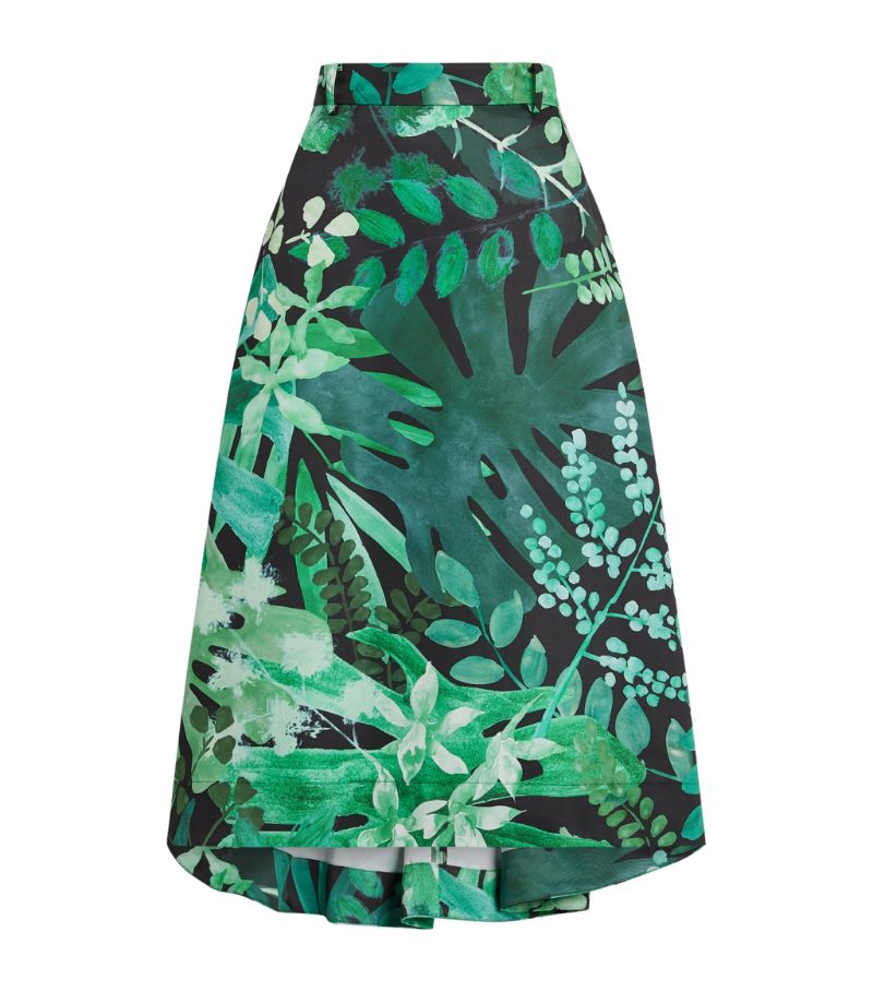 Max & Co Leaf Print Midi Skirt