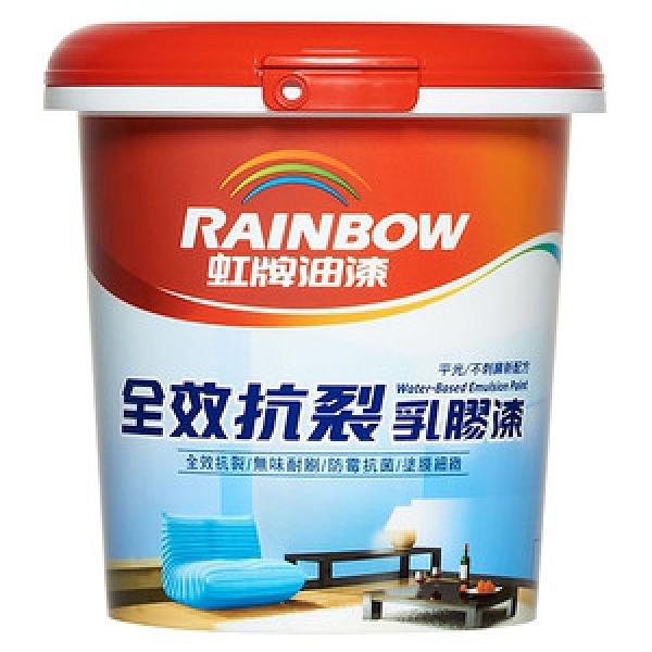 (組)彩虹屋全效抗裂乳膠漆 百合白 1L-4入