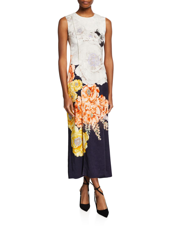 Bouquet Floral Macrame Jacquard Dress