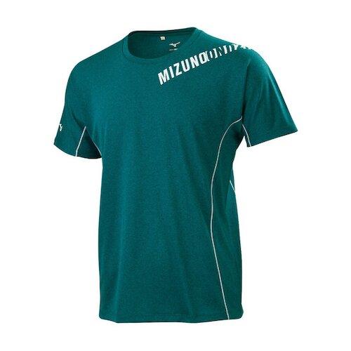 Mizuno Shirts [32TA100833] 男 短袖 上衣 運動 休閒 T恤 吸汗 快乾 綠