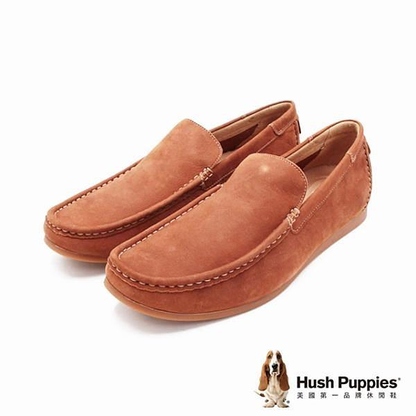 【南紡購物中心】Hush Puppies 紳士皮革樂福男鞋-棕(另有藍)