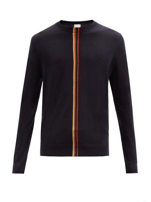 Paul Smith - Artist-stripe Merino-wool Sweater - Mens - Navy