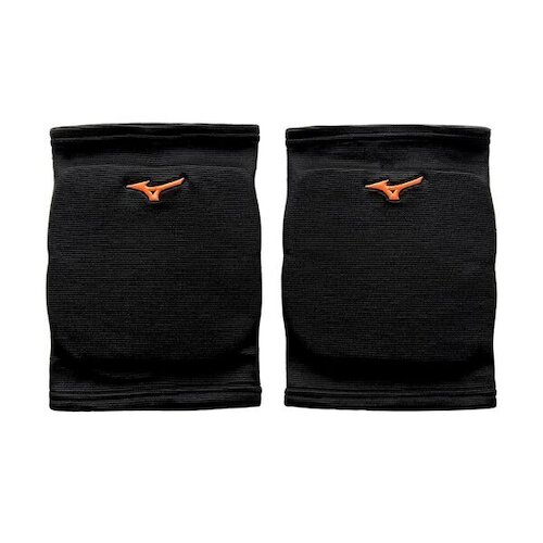 Mizuno Knee Pads [V2TY800652] 護膝 運動 排球 跳舞 吸震 透氣 護墊 防撞 2入 黑橘