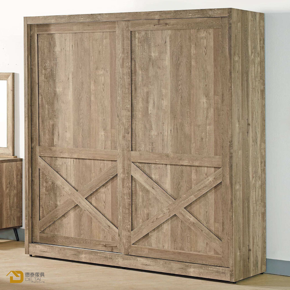 d&t 德泰傢俱 corey 復古工業生活6x7尺衣櫥a003-304-9