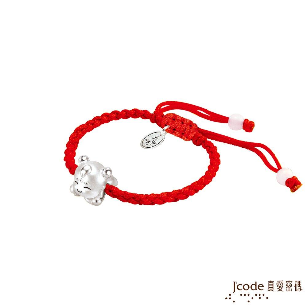 J'code真愛密碼銀飾 大甲媽 三太子純銀編織手鍊