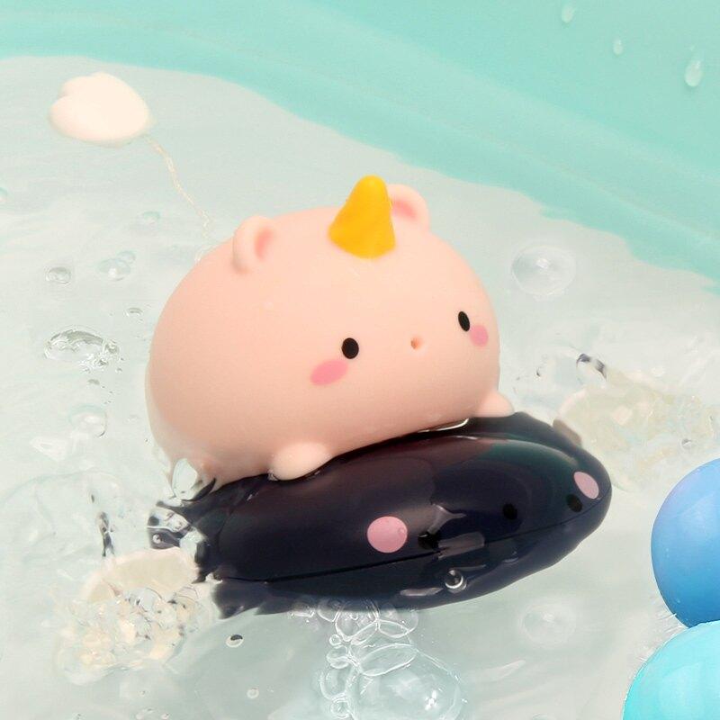 洗澡玩具 兒童洗澡玩具戲水寶寶男女孩小黃鴨子會游泳青蛙兒童泡澡玩水玩具【XXL5190】