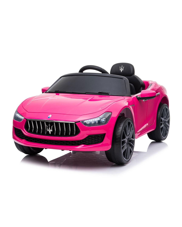 Kid's Maserati Ghibli 12V Ride-On Car, Pink