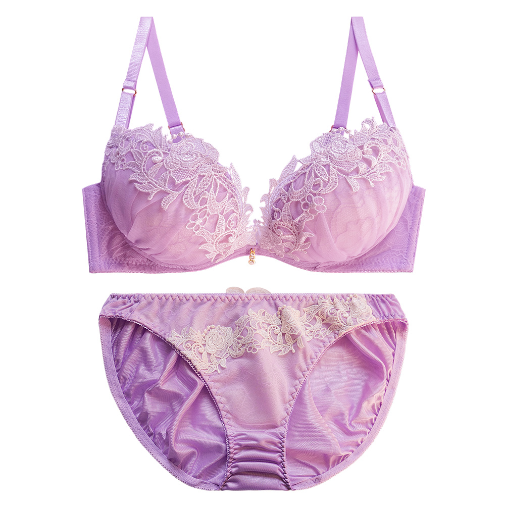 OnStreet 韶光花園 B~F罩杯成套日本內衣-紫色