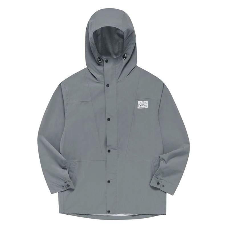 防風外套 / 連帽防水夾克 / 灰色 Size : M