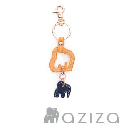 aziza NIRI小象倒影鑰匙圈 秋杏黃