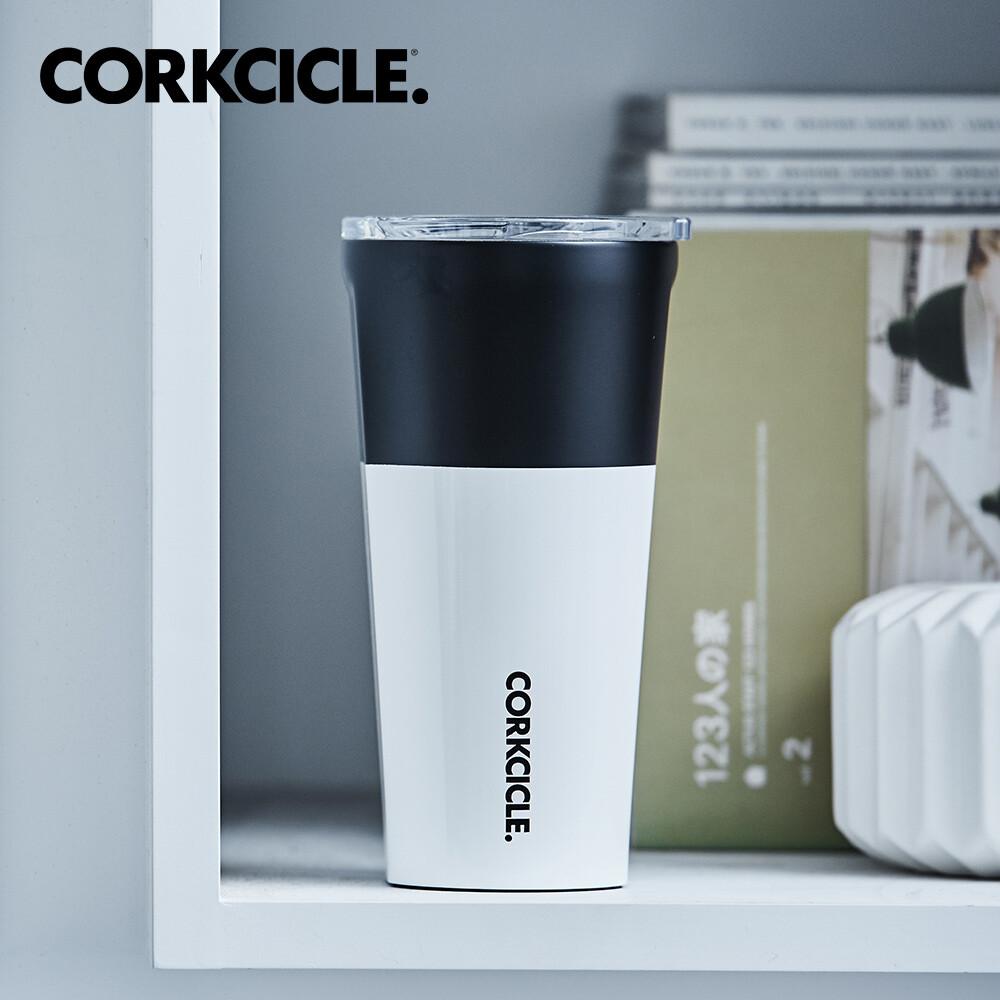 美國corkcicle color block系列三層真空寬口杯/保溫隨行杯470ml-黑白配