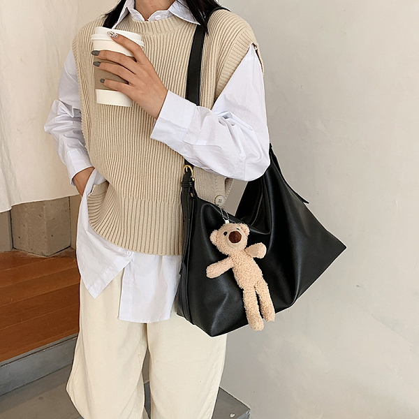 韓版潮流百搭女包包 撞色女款簡約大包包 休閒大容量女士托特包 時尚女生單肩包 洋氣個性托特包