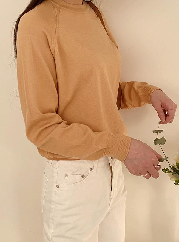 韓國空運 - Fornel Nagrand knit / Peach Orange 長袖上衣