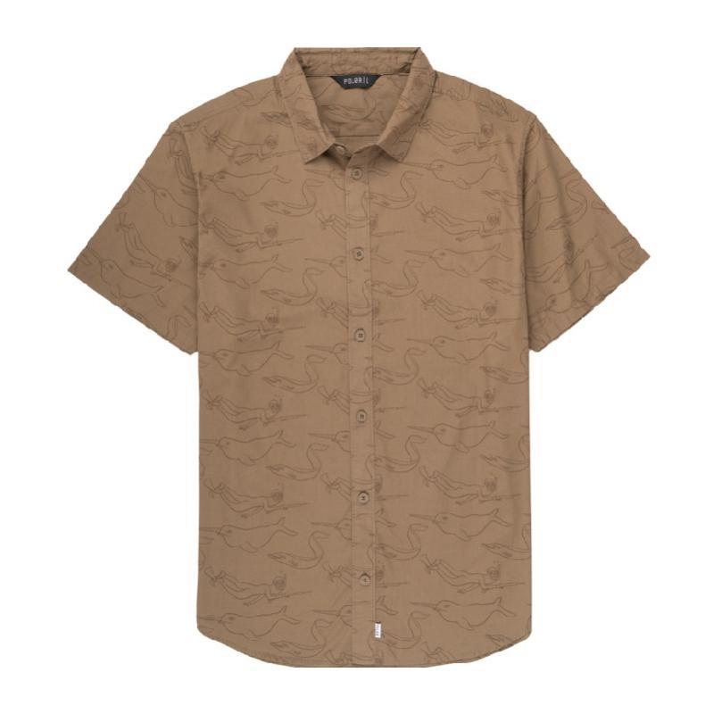 Stevie Gee奈德休閒襯衫 / 卡其色 Size : M