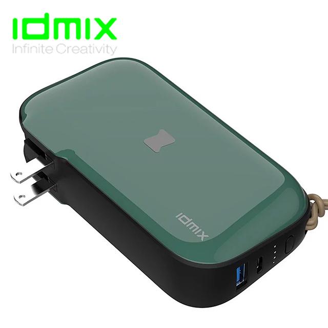 IDMIX MR CHARGER 10000 (CH06) 能充筆電的行動電源 復古綠