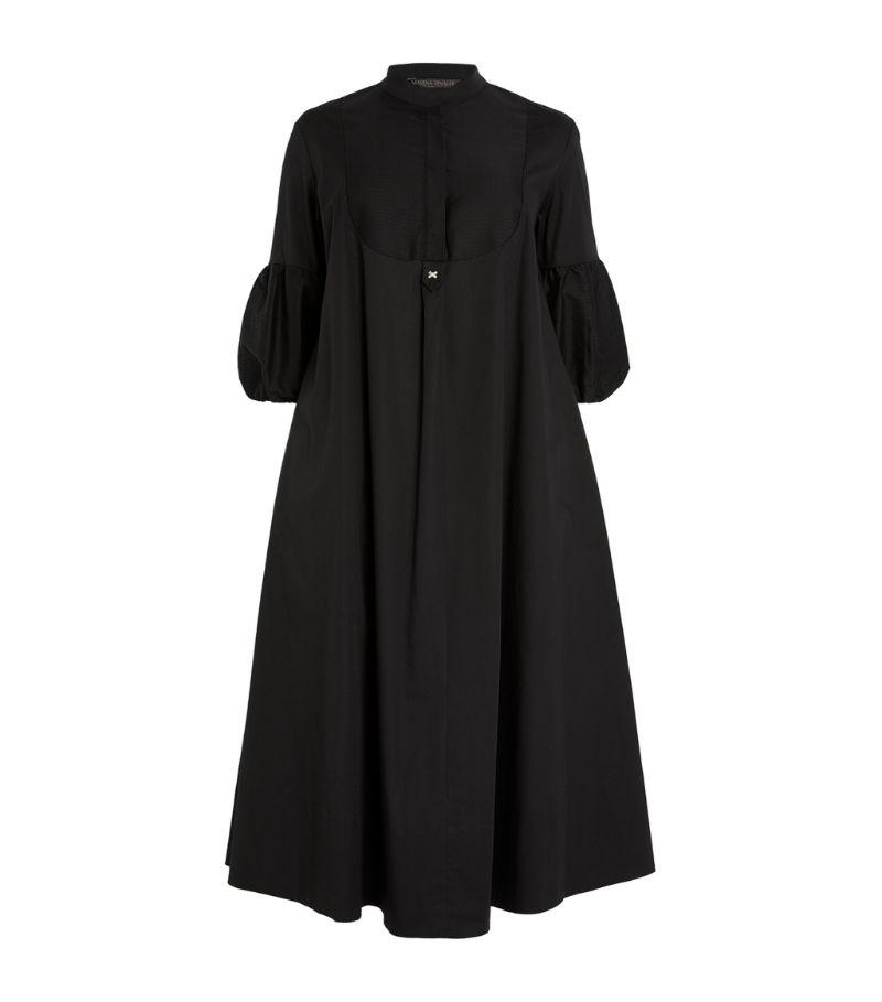Marina Rinaldi Puff-Sleeved Midi Dress