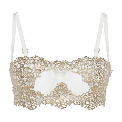 Underwired bra with macramé