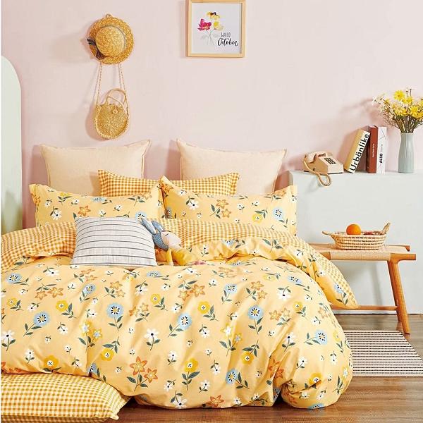 床包被套組/雙人特大/花之暖陽/40支精梳棉/H&D東稻家居