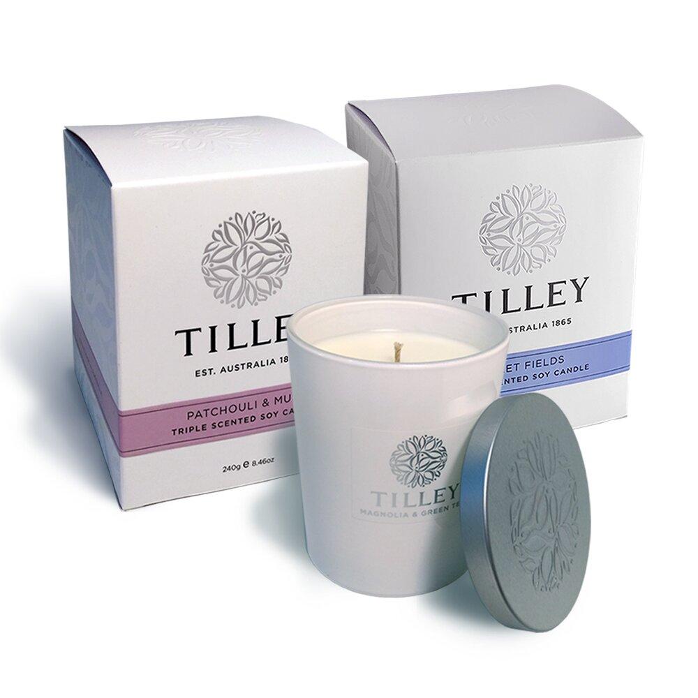 Tilley百年特莉 澳洲香氛大豆蠟燭-二入組(廣霍香&麝香+紫羅蘭)