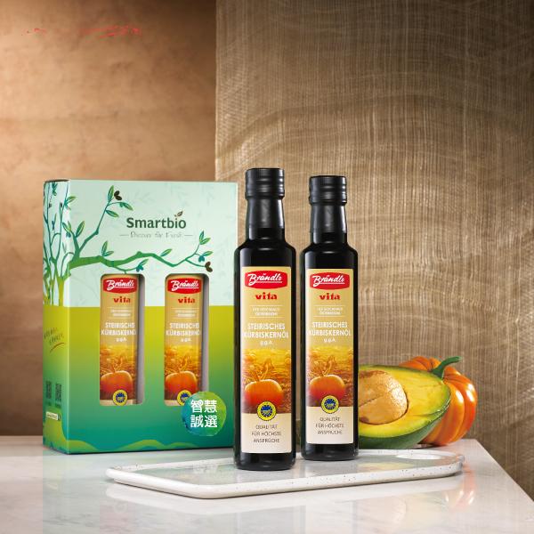 【布蘭德】低溫輕焙南瓜籽油禮盒 (250ml*2)