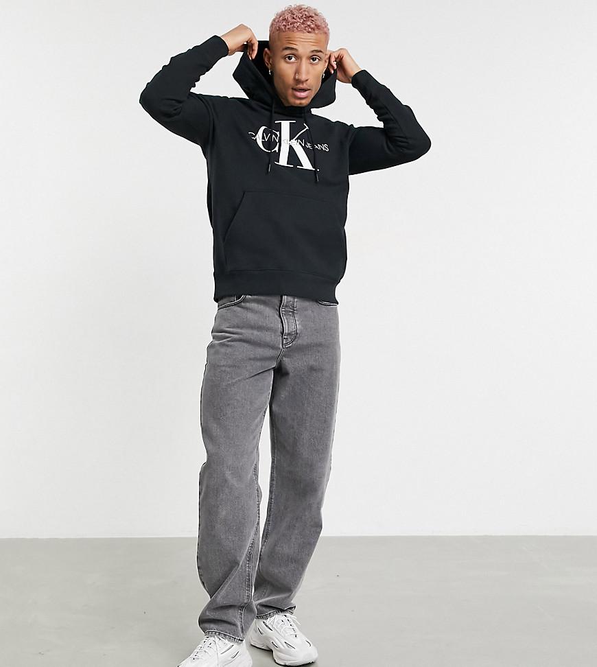 Calvin Klein Jeans ASOS exclusive iconic monogram hoodie in black
