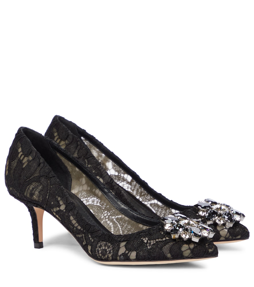 Bellucci embellished lace pumps