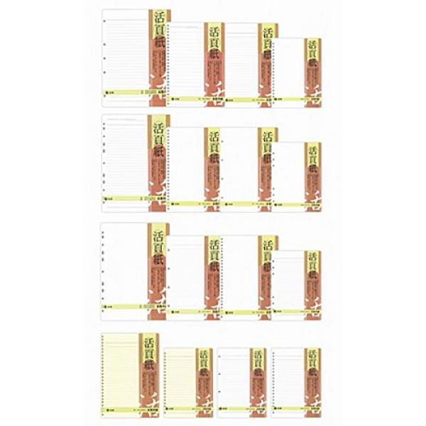 CHA SHIN 加新 3LN2506K 25K 6孔 空白活頁內紙/筆記本內頁/活頁紙 80張入 152×212mm