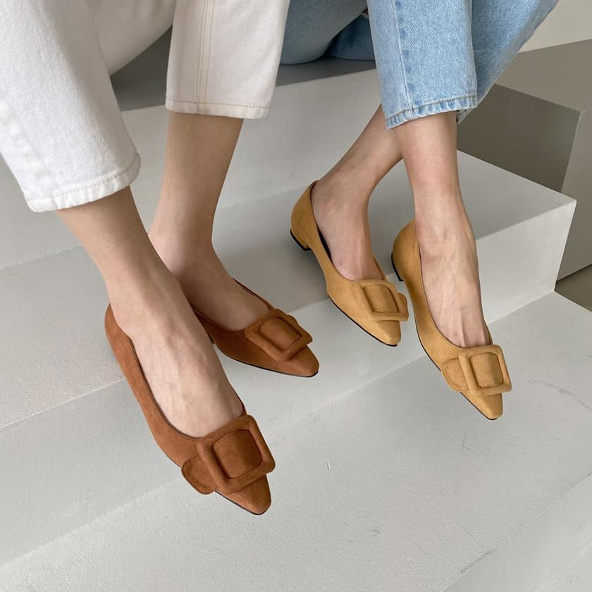 韓國空運 - Vestin suede flat shoes 套裝