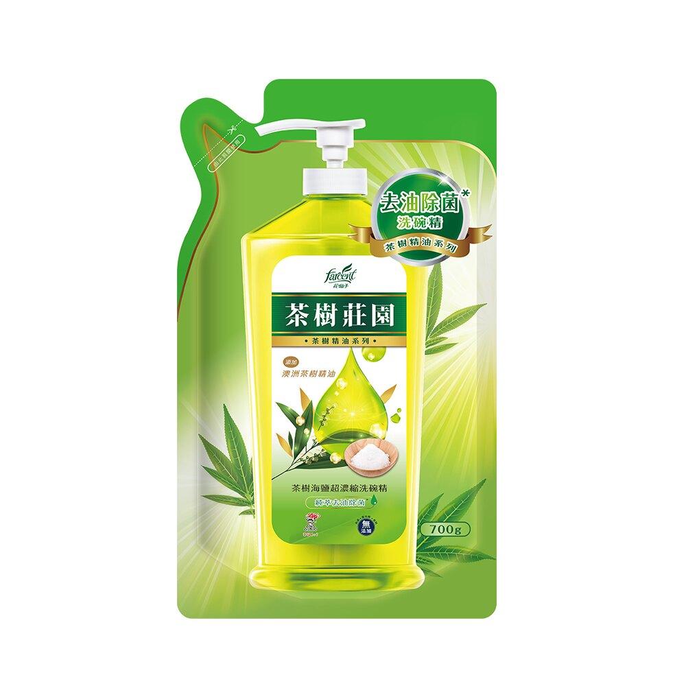 茶樹莊園 茶樹海鹽超濃縮洗碗精補充包700g