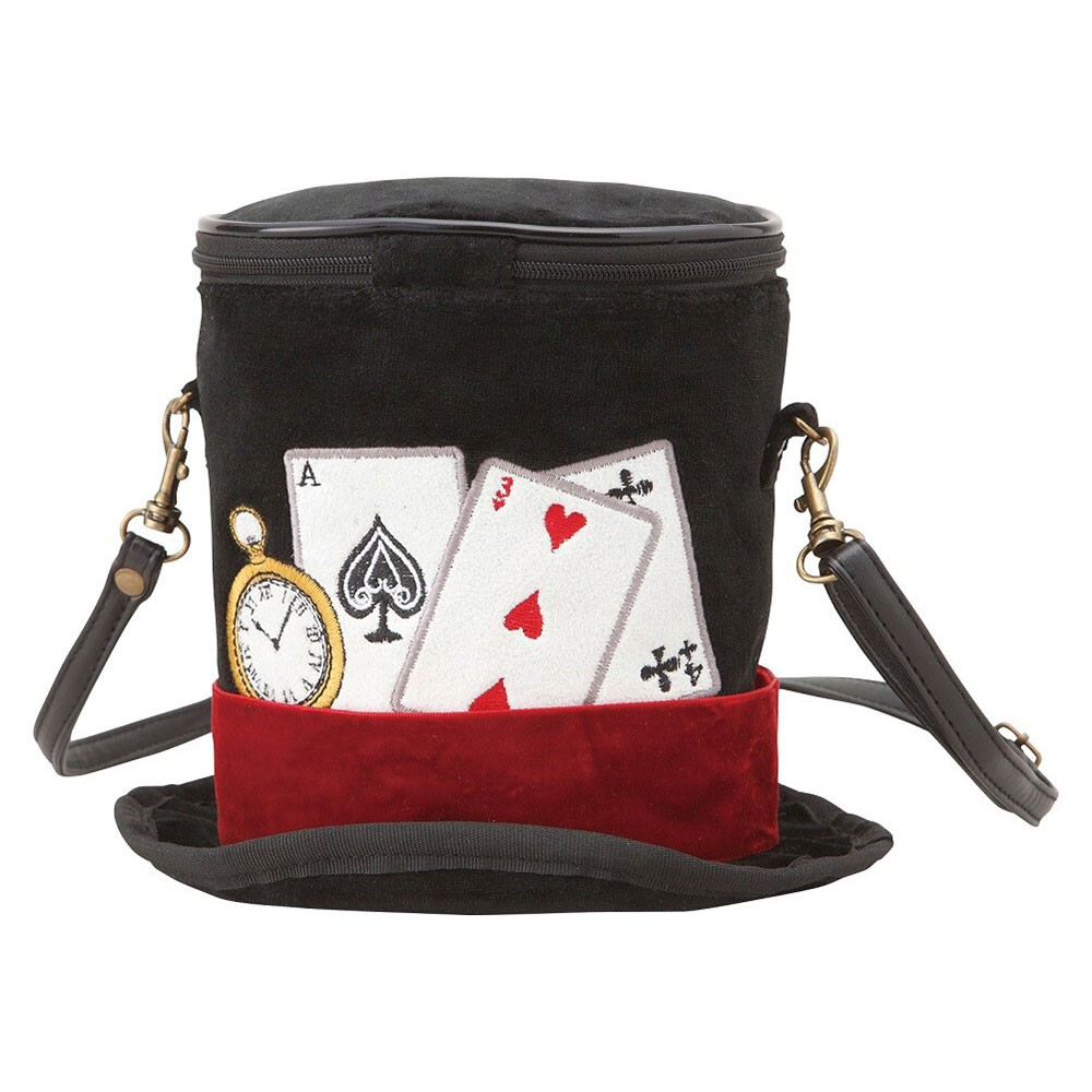 SETO CRAFT 帽子造型斜背包 愛麗絲夢遊仙境 撲克牌