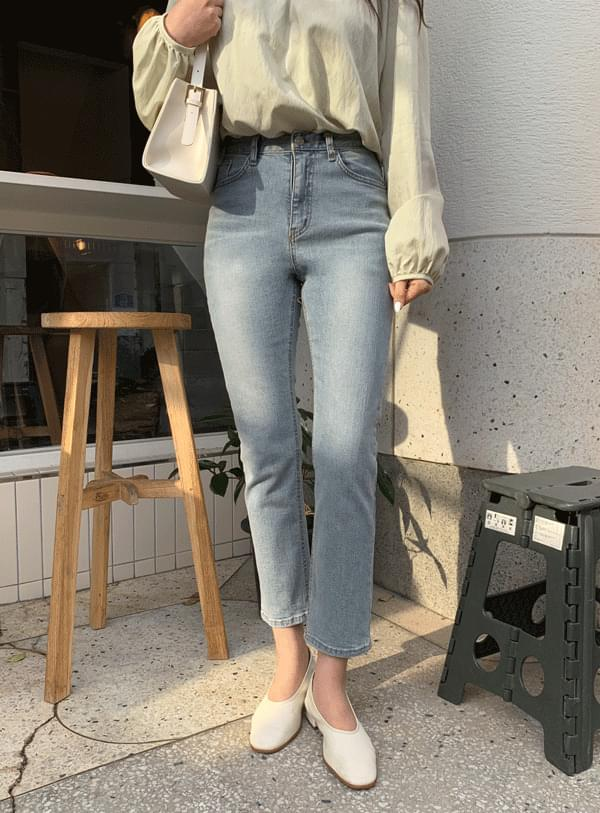 韓國空運 - Lanid Slim pants / Natural Blue 牛仔褲