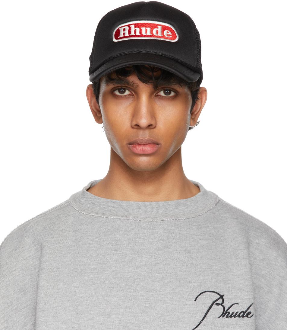 Rhude 黑色 Pit Stop Trucker 棒球帽