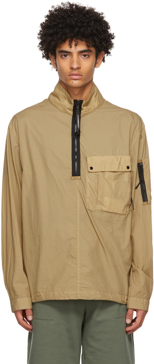 C.P. Company 驼色 Taylon L Mixed 夹克衬衫