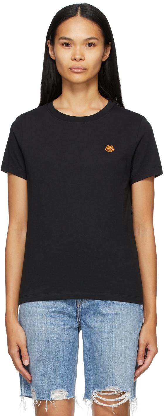 Kenzo 黑色 Tiger Crest T 恤