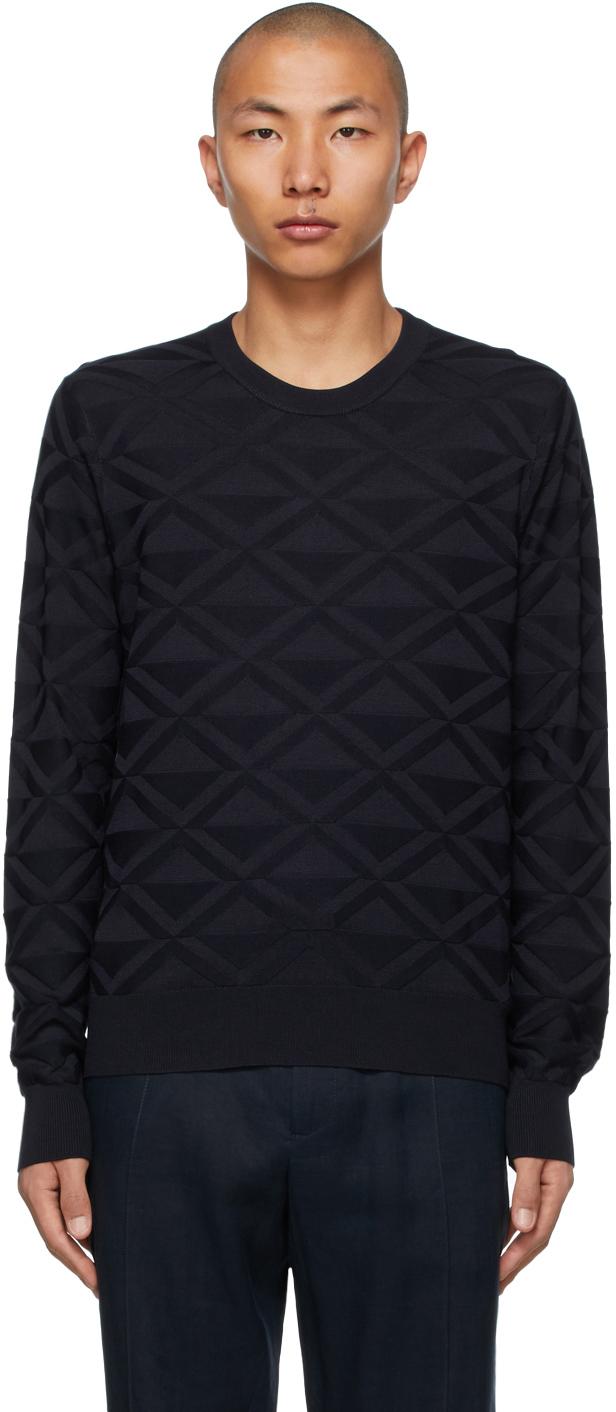 Dolce & Gabbana 海军蓝真丝套头衫