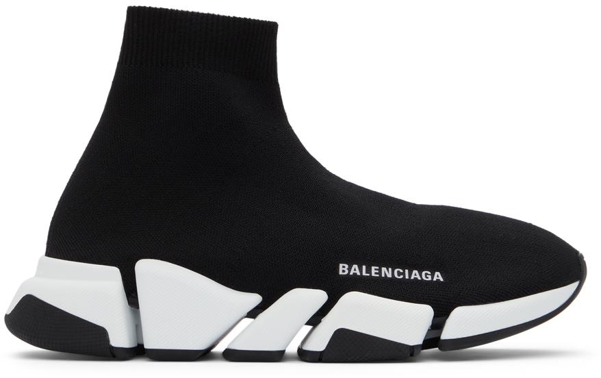 Balenciaga 黑色 Speed 2.0 高帮运动鞋