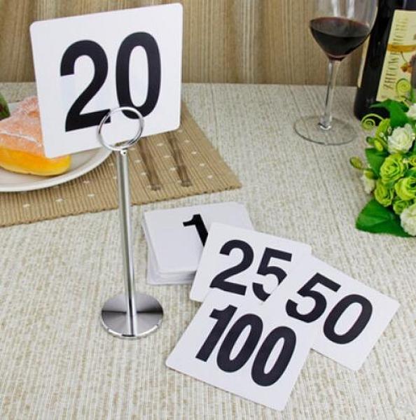 塑料數字牌席位卡桌號牌 餐廳台號牌桌牌號碼牌座位牌 格蘭小舖 全館5折起