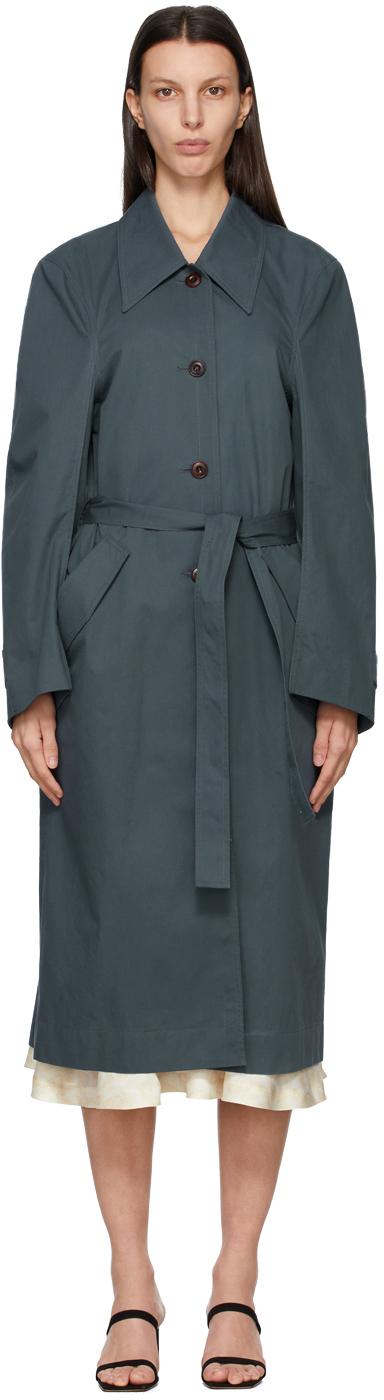 LOW CLASSIC 蓝色 Curve Sleeve 风衣