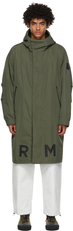Moncler 绿色 & 黑色 Coffre 双面大衣