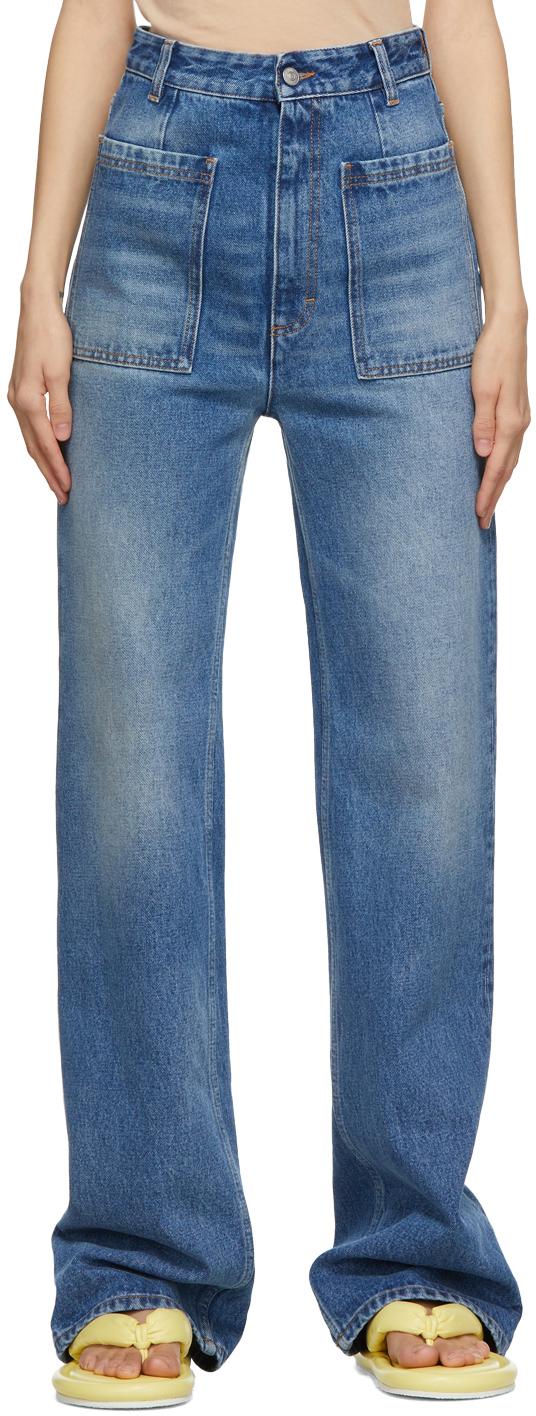 MM6 Maison Margiela 蓝色喇叭牛仔裤