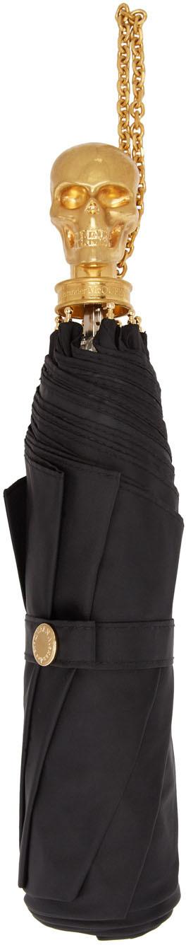 Alexander McQueen 黑色 Skull 雨伞