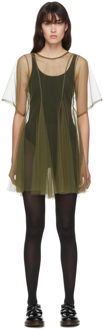 Molly Goddard SSENSE 独家发售军绿色 Celeste 连衣裙