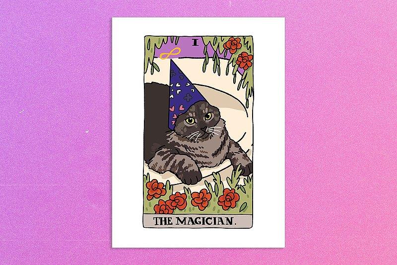 The Magician Wizard Cat Meme海報牆海報