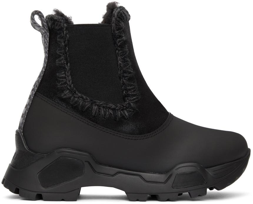 Mou 黑色 Mountain 切尔西靴